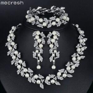 Mecresh-Silver-Crystal-Pearl-Necklace-Bracelet-Earring-Wedding-Jewelry-for-Women