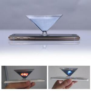 3D Clear Smartphone Hologram Advertise Pyramid Holographic Film Tablet Showcase