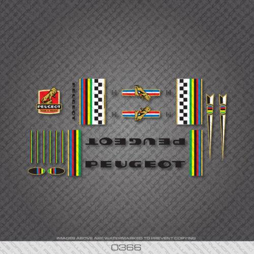 0366 Peugeot Bicyclette Cadre Autocollants-Decals-Transfers