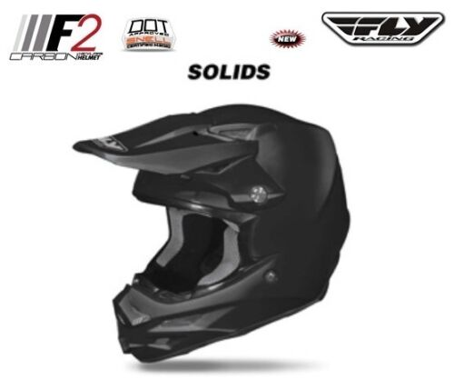 Fly Racing 2014 F2 Carbon Fiber Helmet MATTE FLAT BLACK Riding Race Full Face