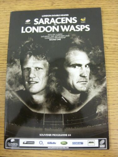 02092006 Rugby Union Programme London Double Header Saracens v London Wasps