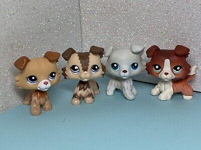 4X Littlest Pet Shop LPS Toys  #2210#2452#1542#1262 Collie Puggy Dog Rare Toys