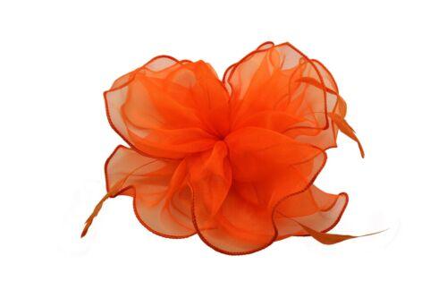 Grande fleur cheveux plume mariage chapeau bandeau Clip Royal Ascot Course