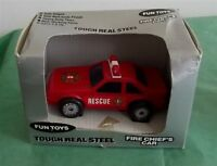Vintage Remco Fun Toys 1987 Red 3 Fire Rescue Car