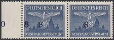 WWII POLAND GERMANY GENERAL GOVERNMENT FISCHER EXPERTISED ERROR VARIETY RARE !