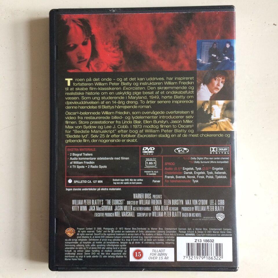 Exorcisten, instruktør William Friedkin, DVD