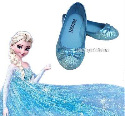 New Arrive Frozen Blue Elsa Princess Cosplay Shoes Girls Kids Shoes UK7-13 123