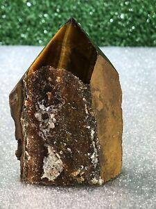 3-034-Eys-039-s-Tiger-Point-Cluster-and-Polished-Crystal-Quartz-Natural