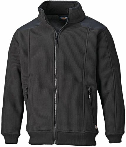 Dickies Eisenhower Sherpa Lined Zip Thru Fleece Black Sizes S-XXXL