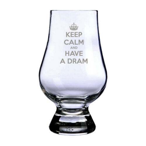 New Glencairn Whisky Glass Nose Tasting Whisky Keep Calm Dram Made In Scotland
