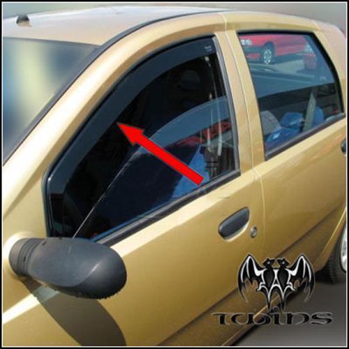 Déflecteurs de vent pluie air teintées pour Fiat Punto II III 5p 1999-2005