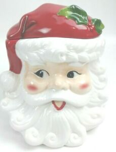 Santa-HeadFace-Ceramic-Christmas-Cookie-JarSeigh-Bell-Bistro-2016
