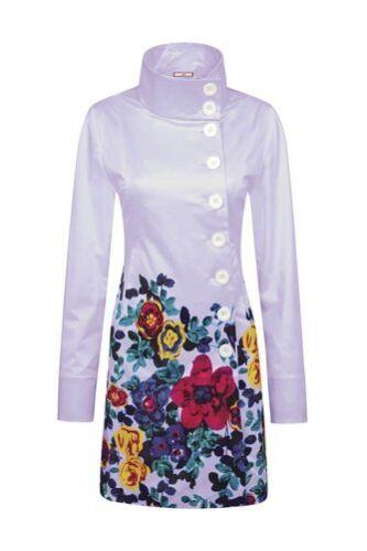 Bnwt joe browns belle bordure mac lilas taille uk 8 veste manteau