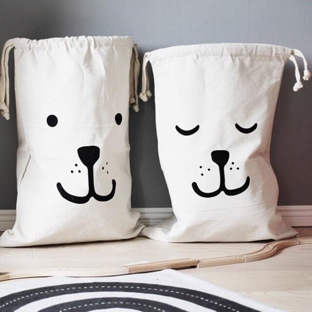Baby Toys Storage Canvas Bags Bear Batman Laundry Hanging Drawstring Bag TRYRY