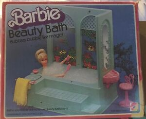 Barbie-Beauty-Bath-1975-ALL-PARTS-amp-INSTRUCTIONS-Complete-Collectible-Set