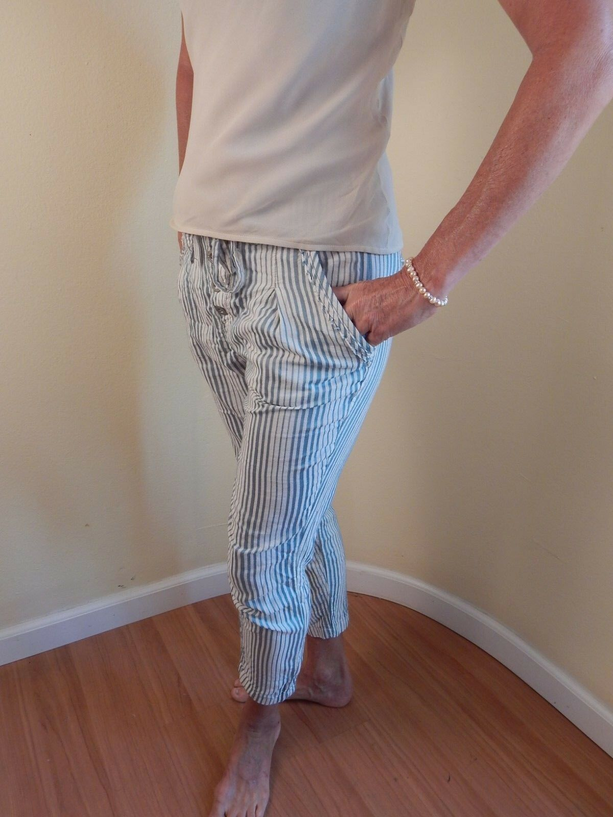 Free people casual cotton pants, size 4