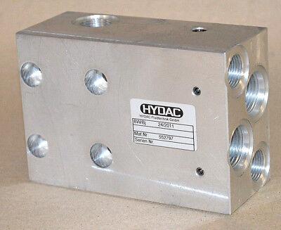 Hydac Hydraulikventil / Ventilblock 552797 Aluminium Neu