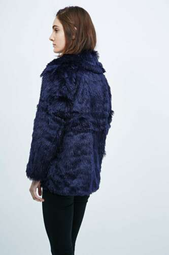 150 Rrp £ Fur Faux Nouveau foncé Monday Cheap Jacket Bleu Furious Medium 86wxWUvq