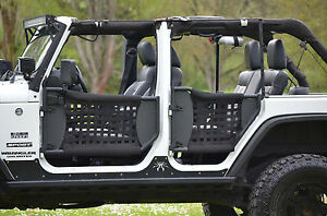 Image is loading Jeep-Trail-Doors-w-Nylon-Web-07-17- & Jeep Trail Doors w/ Nylon Web 07-17 Jeep Wrangler (4 doors) | eBay