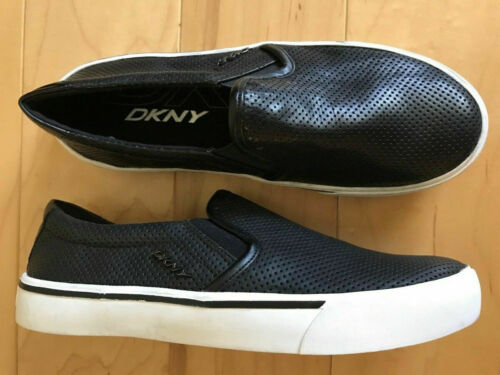 DKNY Bess Slip On Sneakers, Black, Size 6.5