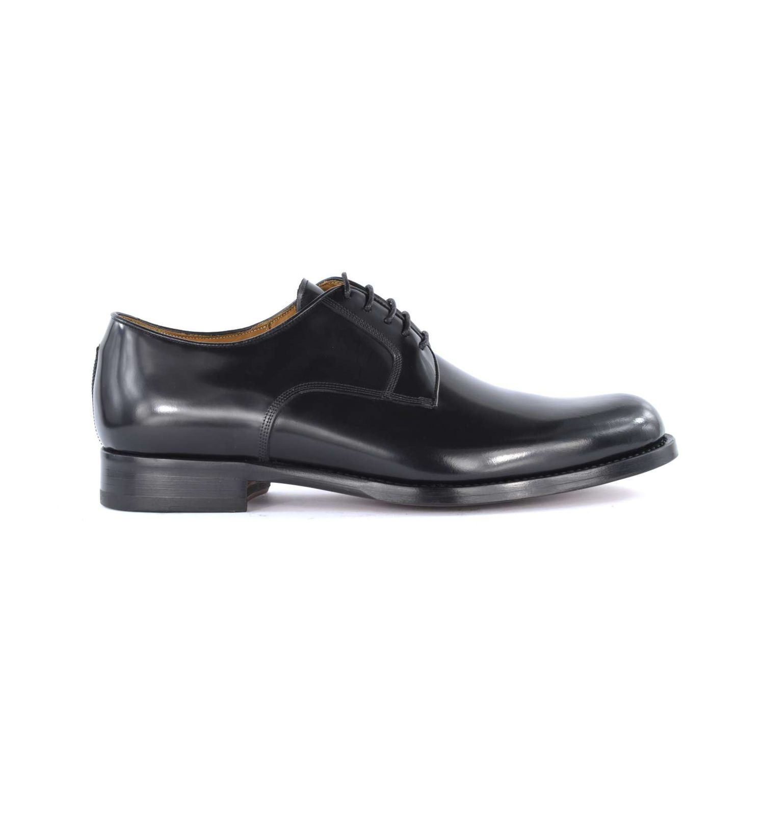 J.J. ITALIAN LUXURY ARTCRAFT uomo scarpa derby pelle nero 855 CORDOVAN