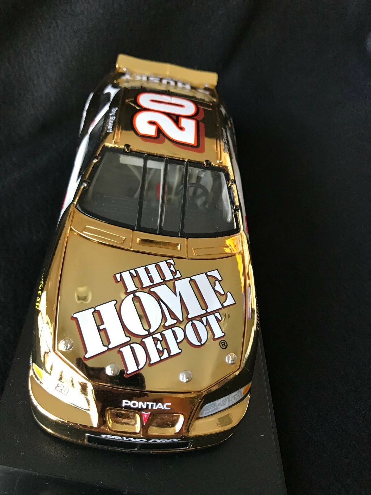 1999 Tony Stewart Home Depot Pontiac 24kt gold w COA 1 24 and display case
