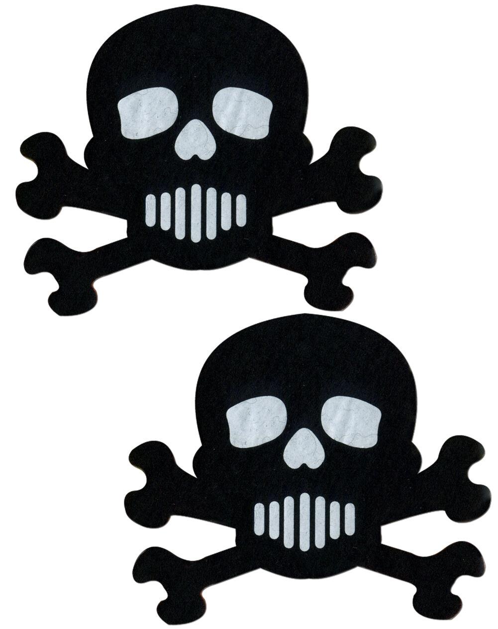 Pastease Skulls Skull Black Rave Reusable Dancer Breast Pasties HALLOWEEN 2017