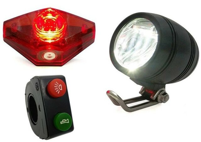 36V LED Tail Light Scooter E-bike Turn Signal Rear Lamp Electric Bicycle Ebike