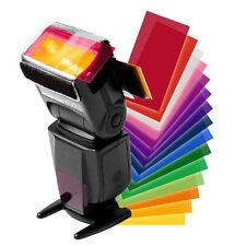 12 pcs Strobist Flash Color Card Diffuser Lighting Gel Pop Up Filter for Camera