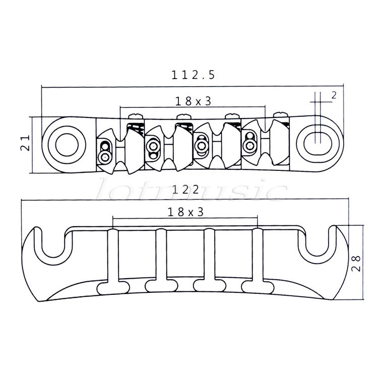 ultimate guitar bridge tailpiece set adjustment posts for