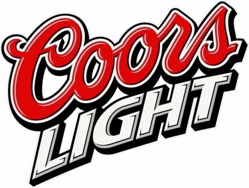 """2 Coors Light 14/"""" Cornhole Vinyl Decals Stickers Baggo Toss Beer"""