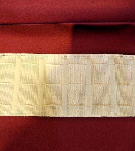 """IDEAL-CARAVAN Pelmets 3/"""" hook n loop VELRO//Pocket Pencil Pleat Heading Tape75mm"""