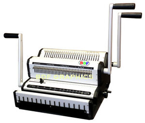 New-Wire-Binder-Puncher-Combo-Punching-Binding-Closer-Pitch-3-1-amp-2-1-All-in-One