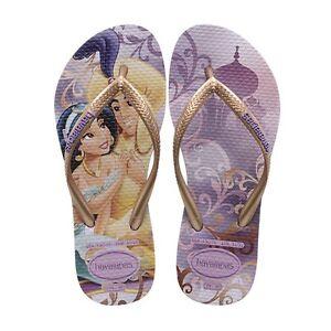 23a140bebf72 Havaianas Lilac Purple Disney Princess Jasmine 3 4 Youth Flip Flops ...