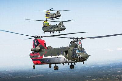 Collectibles Delicious Royal Air Force Chinook Hélicoptères Anniversaire 8x12 Argent Halide Affiche Careful Calculation And Strict Budgeting