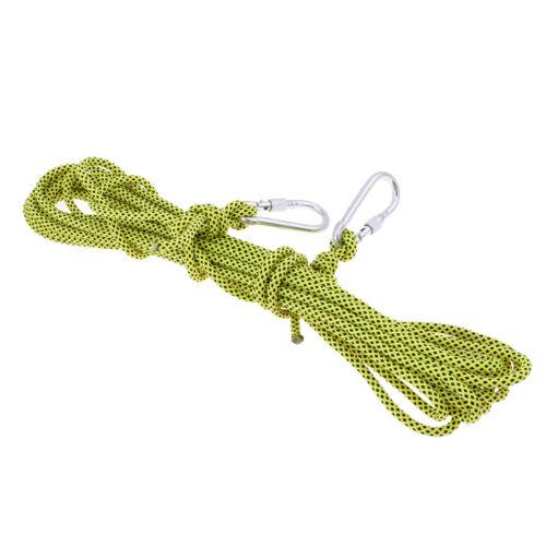 Seile Kletterseil Sicherheitsseil Überleben Seil mit Karabiner Durchmesser 6mm