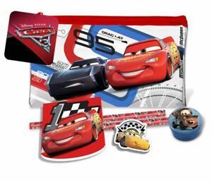 Disney-Cars-Estuche-Lleno-Con-Lapices-Cuaderno-Borrador-Y-Sacapuntas