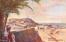 C4911) LIBIA, TRIPOLI, LE FORTIFICAZIONI, ILL. CODOGNATO MOBILI LA FIDUCIARIA.