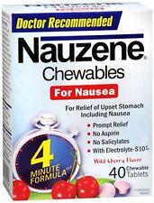 Nauzene Chewables for Nausea Wild Cherry 40 Chewable Tablets