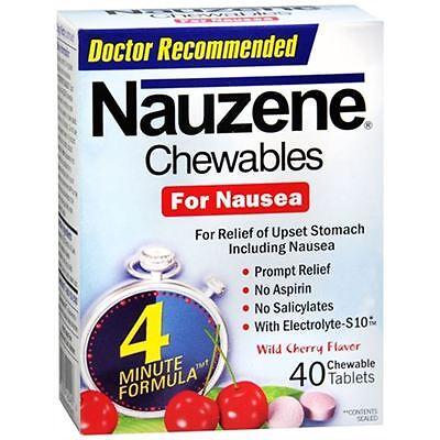 Nauzene Chewables Wild Cherry Flavor 40 Tablets