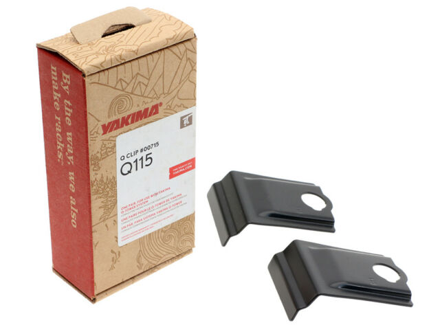Yakima Q115 Q Tower Clips w// E Pads /& Vinyl Pads #00715 2 clips Q 115 NEW in box