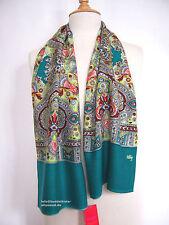 Oilily Schal NEU Orient Grün Ornament Muster für Jacke Mantel Damen scarf