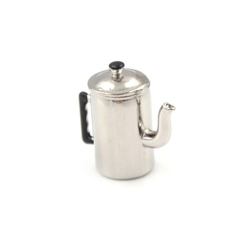 1//12 Dollhouse Miniature Metal Boiling Water Kettle toy Kitchen furniture toy TZ