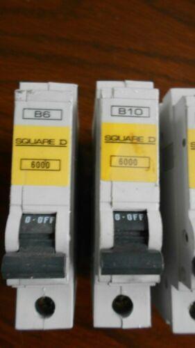SQUARE D B6 QOE 6000 MCB//CIRCUIT BREAKER FREEPOST.