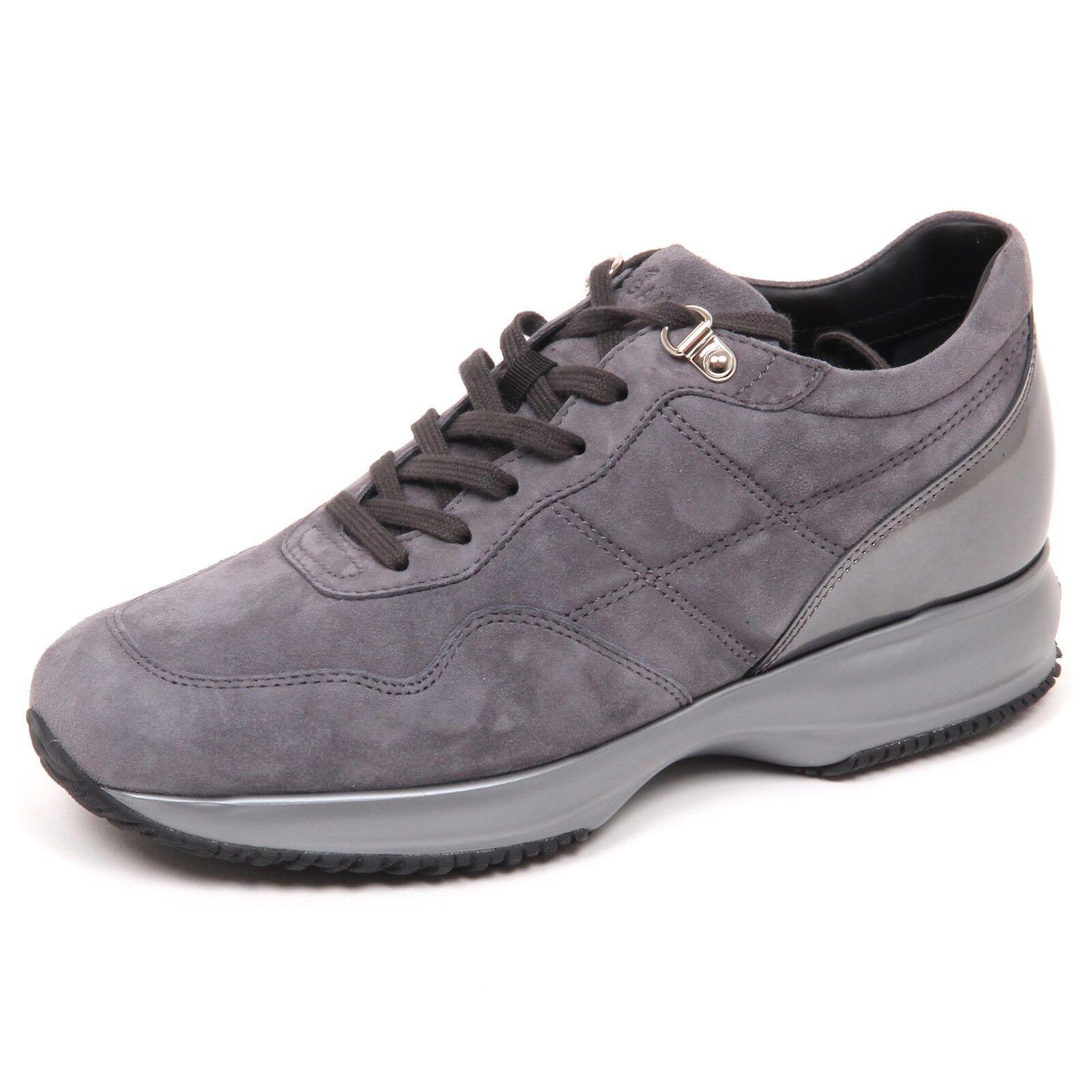 E4528 sneaker donna grey HOGBN INTERBCTIVE scarpe H cucitura shoe woman