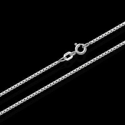 1,20mm Echte 925er Sterlingsilber Venezianerkette Silberkette Halskette Colier