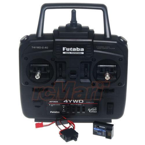 Futaba ATTACK 4YWD 2.4GHz con R214GFE x2 de espectro ensanchado de salto de frecuencia para Camión Tractor YWD con R214GFE x2