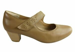 NEW-SCHOLL-ORTHAHEEL-HANNOVER-WOMENS-LEATHER-COMFORT-MID-HEEL-SHOES