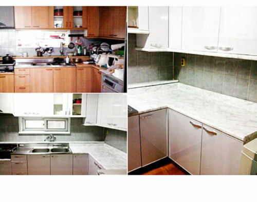 """Marble LOOK Countertop Contact Paper Film Self Adhesive Peel and stick 36/""""x6/'"""