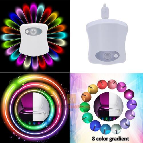 8//16 LED Bathroom Toilet Night Light Motion Activated Toilet Seat Sensor Lamp